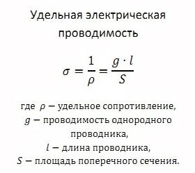 Удельная проводимость википедия