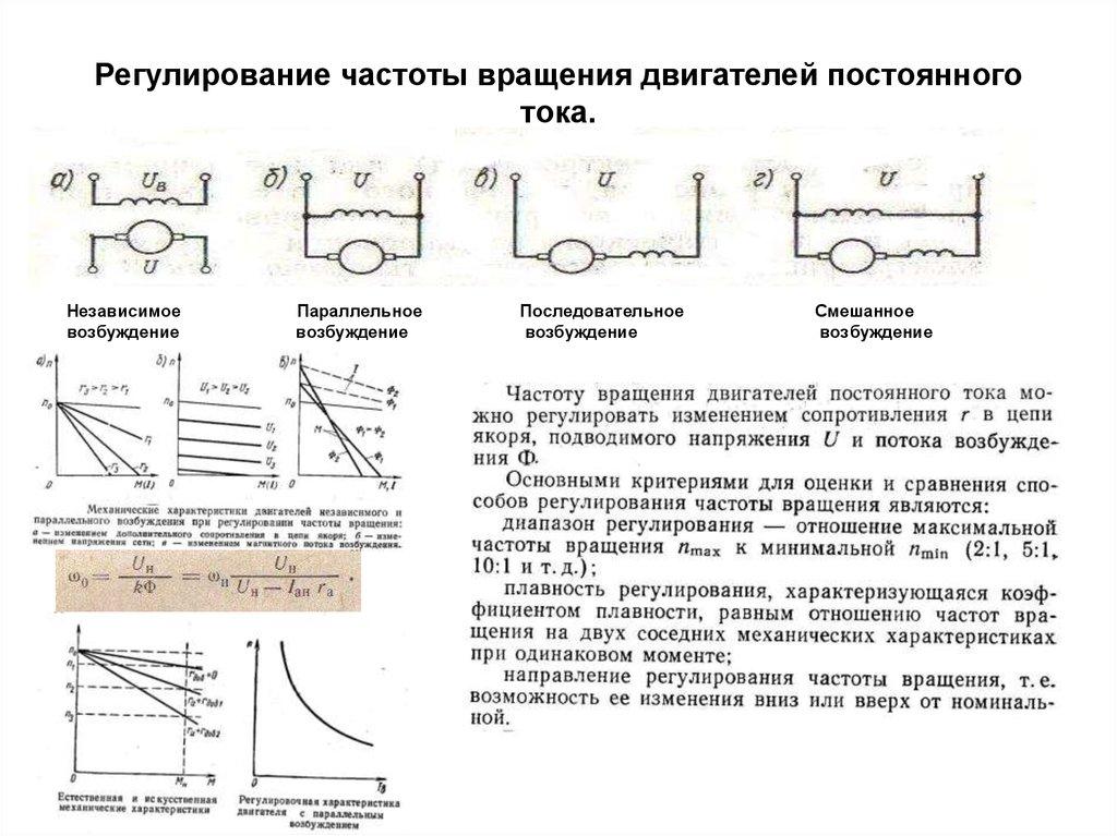 Регулирование частоты вращения асинхронных двигателей | электрические машины