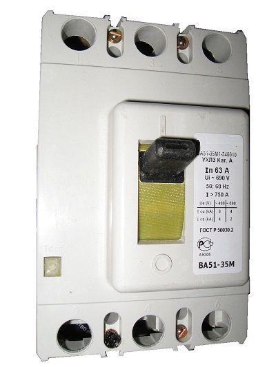 Автоматические выключатели серии вa 5135