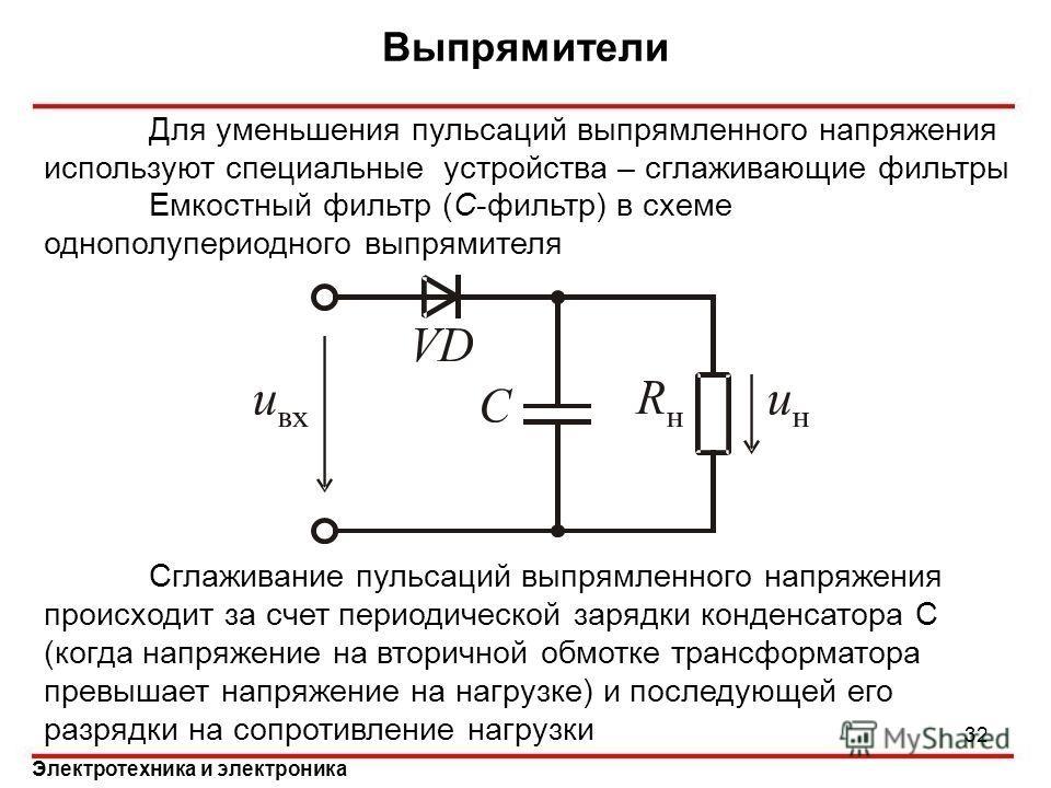 Переменный ток и ёмкостное сопротивление конденсатора