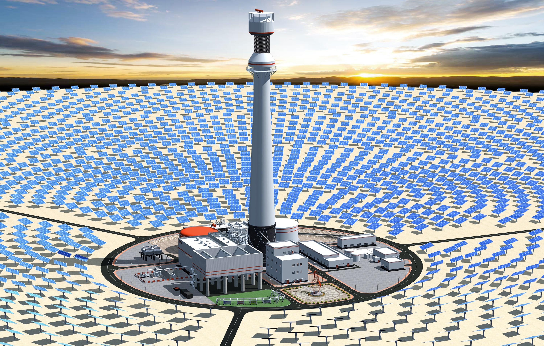 Солнечная электростанция — википедия