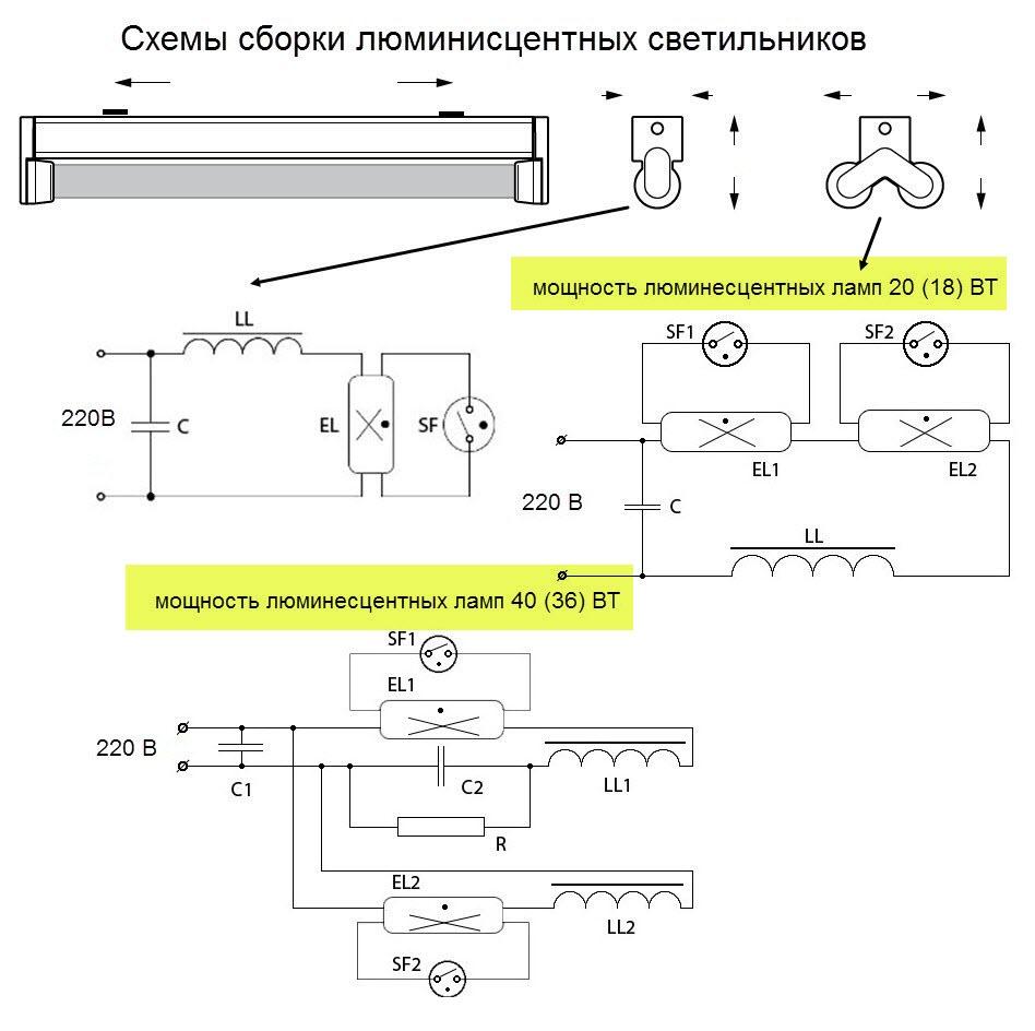 Особенности ремонта люминесцентных светильников