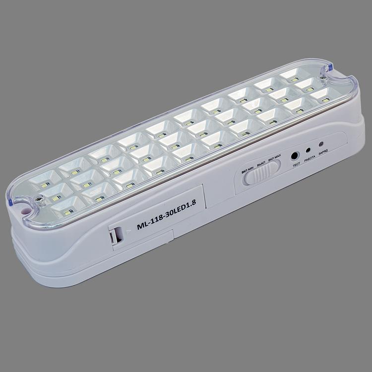 Полный обзор аварийных светодиодных светильников с аккумулятором