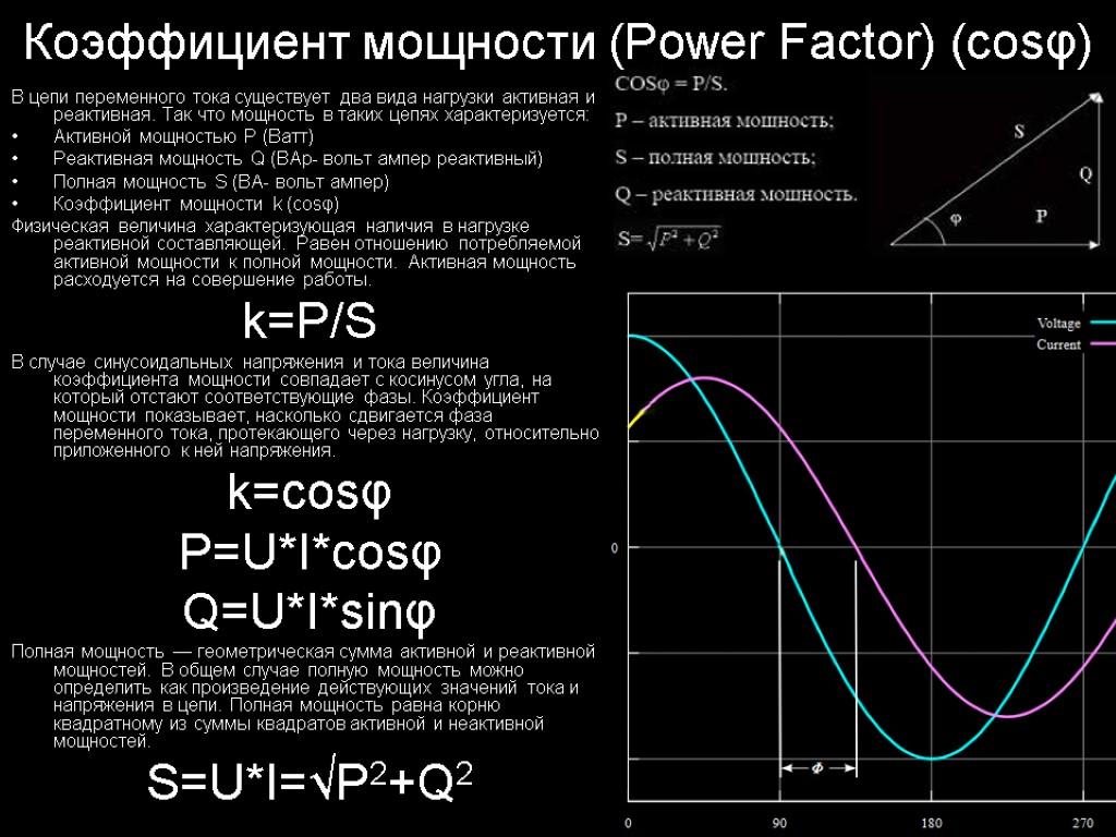 Компенсация реактивной мощности: расчет мощности и выбор ступени регулирования конденсаторной батареи
