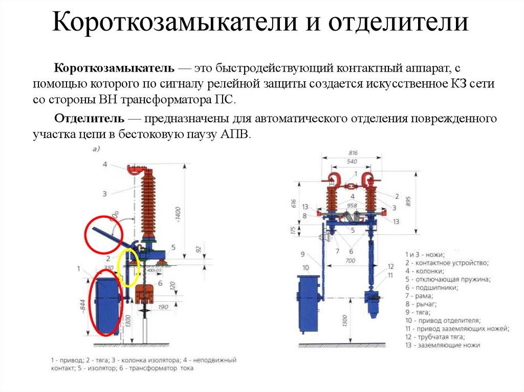 Монтаж разъединителей 6—10 кв | разъединители и отделители | справка