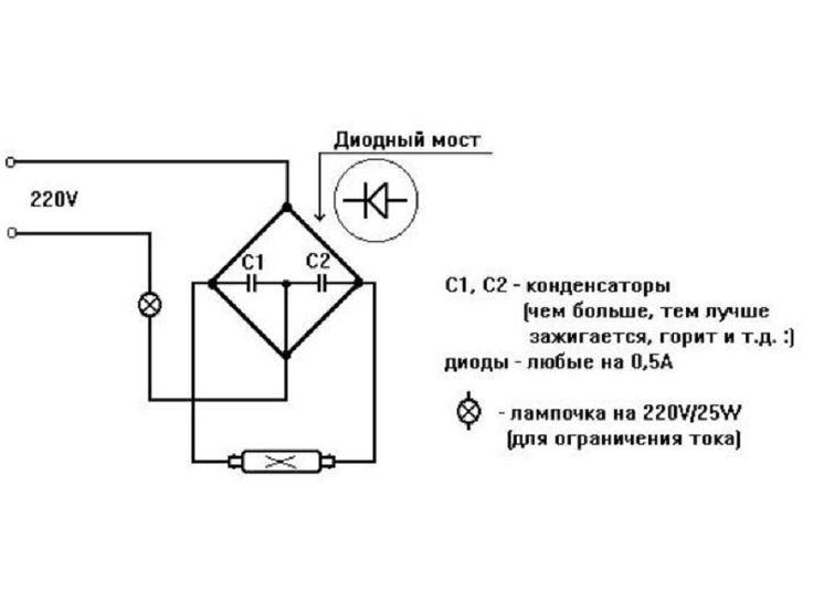 Как подключить люминесцентную лампу