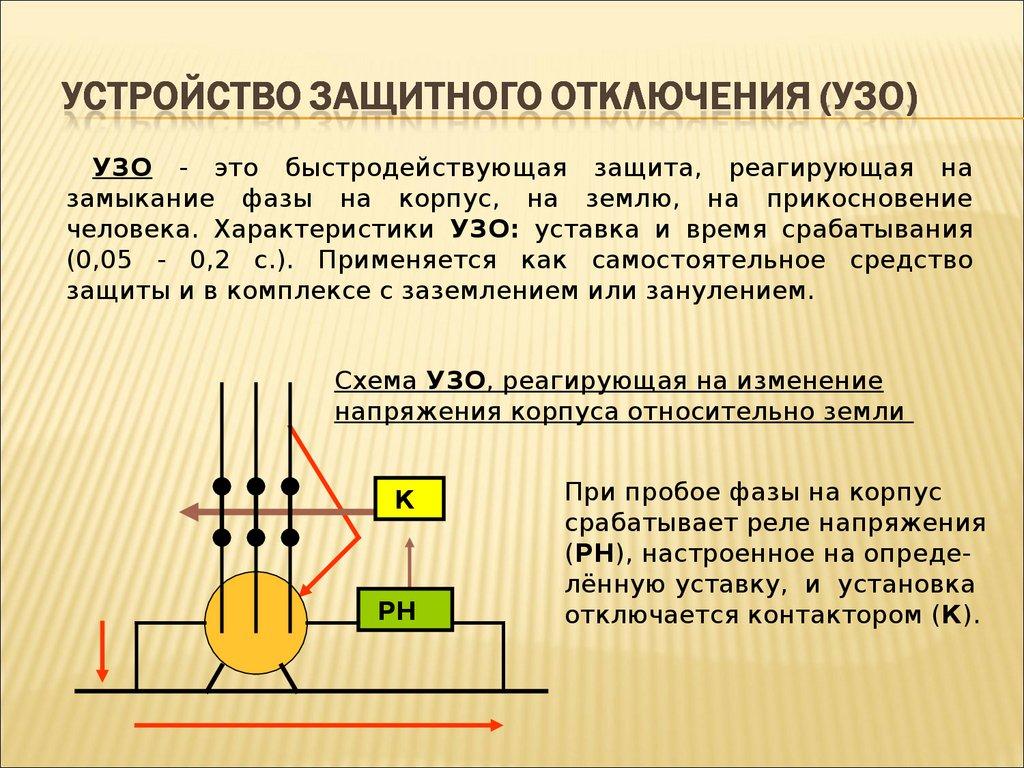 Схема подключения узо без заземления
