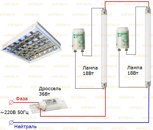 Баластник для люминесцентных ламп