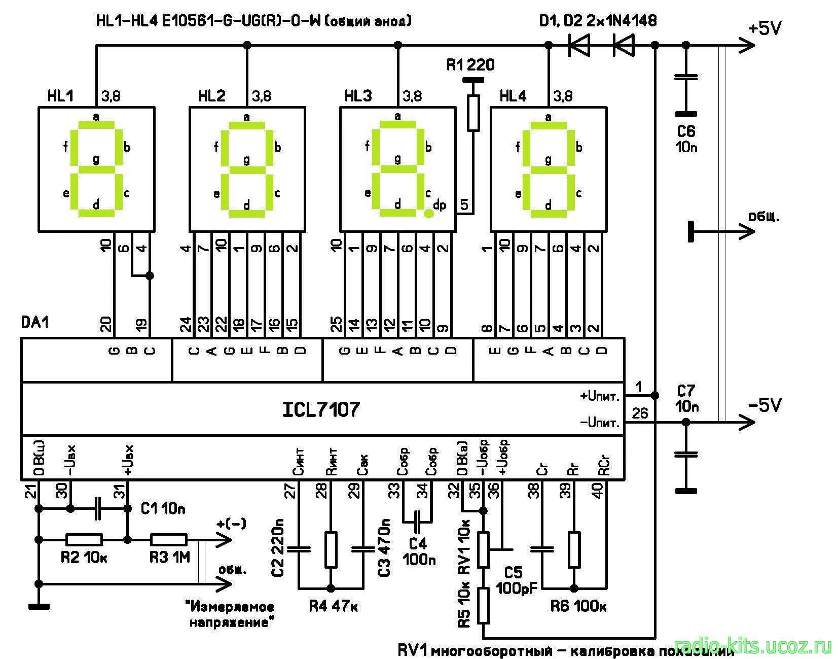 Схема подключения китайского вольтамперметра