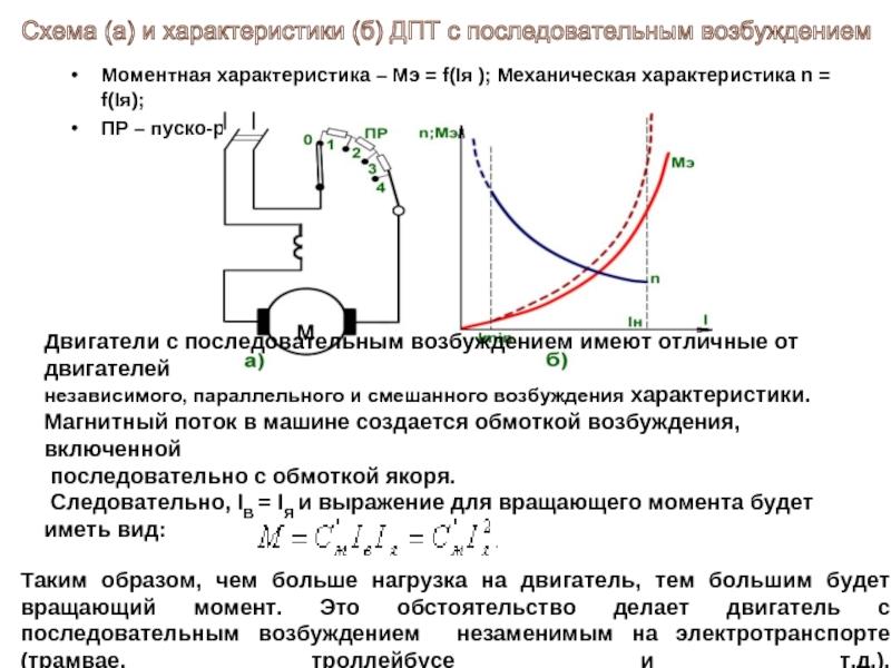 Пуск и тормозные режимы двигателя постоянного тока независимого возбуждения дпт нв