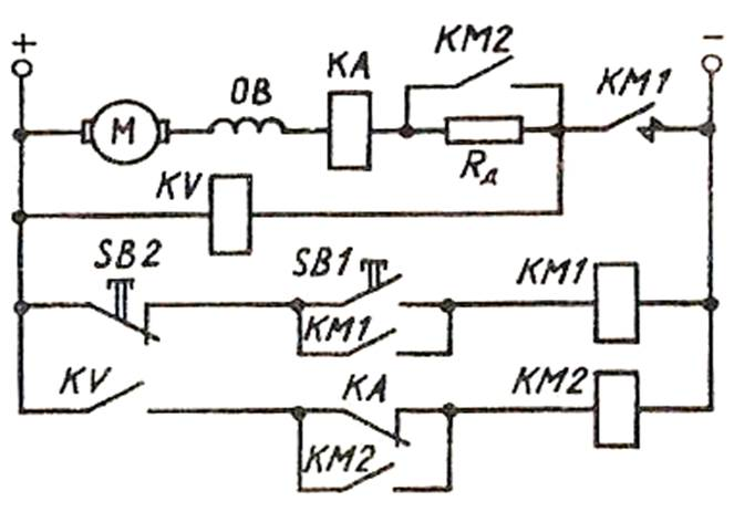 Типовая схема пуска двигателя постоянного тока с независимым возбуждением в функции времени - pdf скачать бесплатно