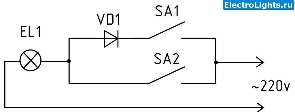 Плавное включение ламп накаливания 220