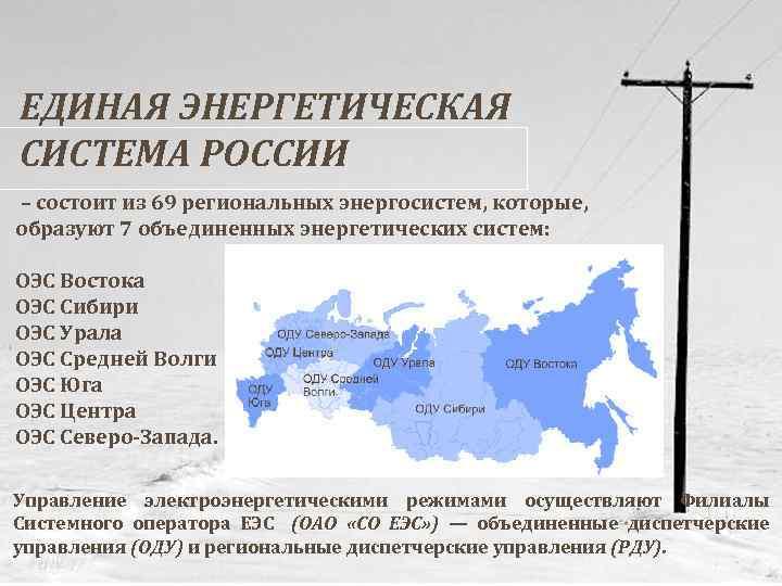 Единая энергетическая система россии