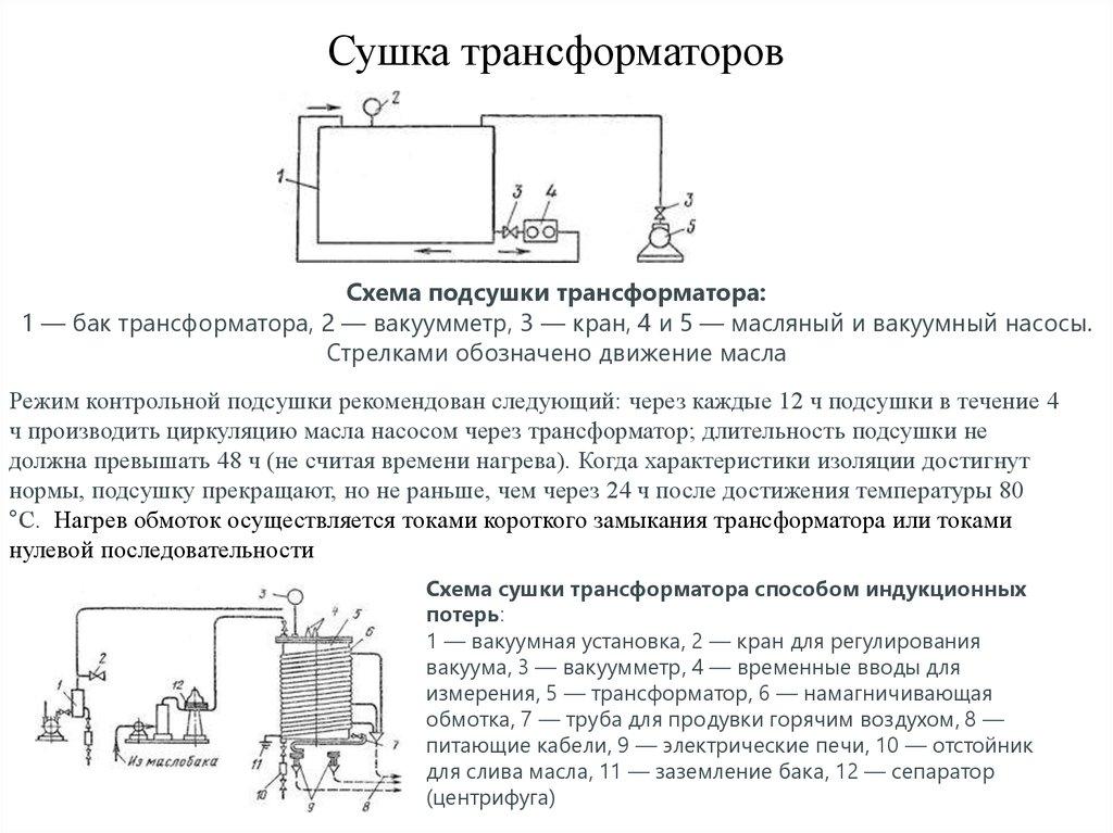 Сушка трансформаторов