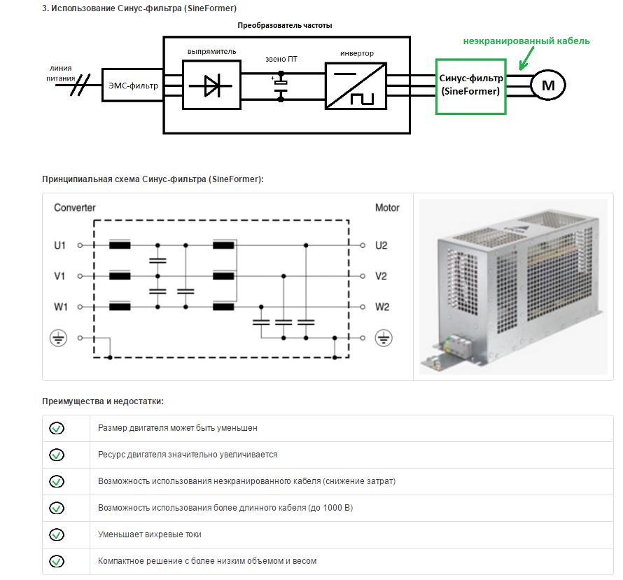 Электромагнитная совместимость при использовании преобразователей частоты