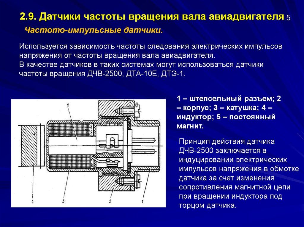 Датчики частоты вращения двигателя