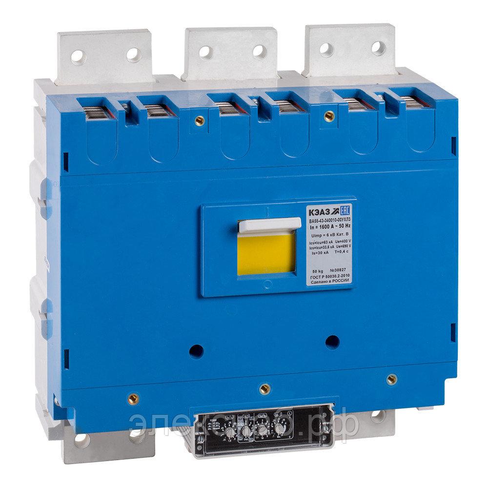 Автоматические выключатели серии ВА на номинальные токи от 250 А