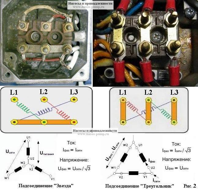 Запуск электродвигателя по схеме «звезда-треугольник» номиналом 30квт