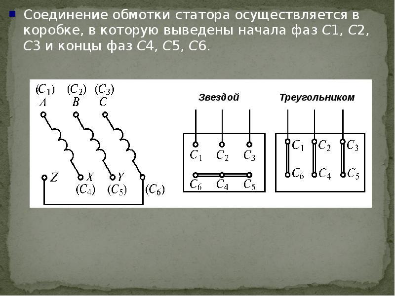 Схемы обмоток машин переменного тока