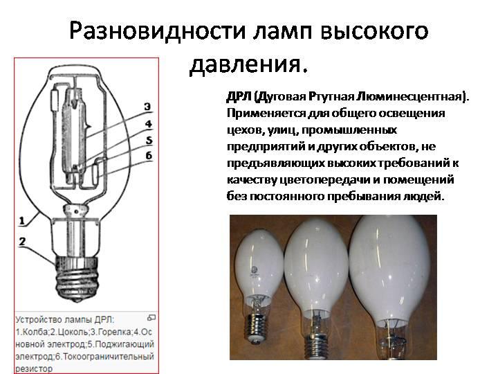Как работает лампа дрл. схема подключения лампы дрл