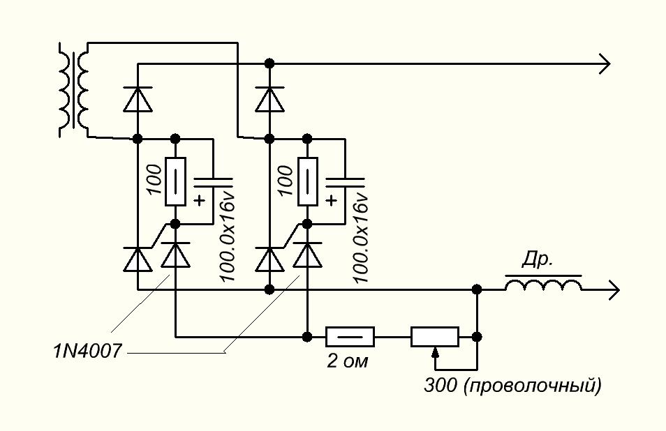 Тиристоры электрическая схема