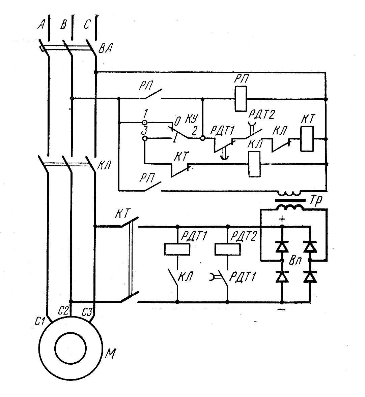 Пуск и реверс асинхронных двигателей — студопедия