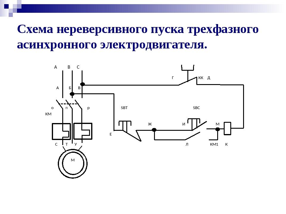 Реверс и торможение асинхронного двигателя с короткозамкнутым ротором