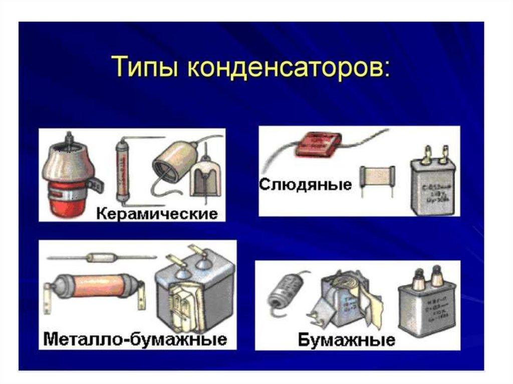 Электрические цепи с конденсаторами