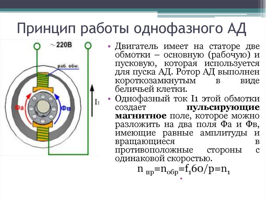 Электродвигатель асинхронный конденсаторный. конденсаторные двигатели - устройство, принцип действия, применение