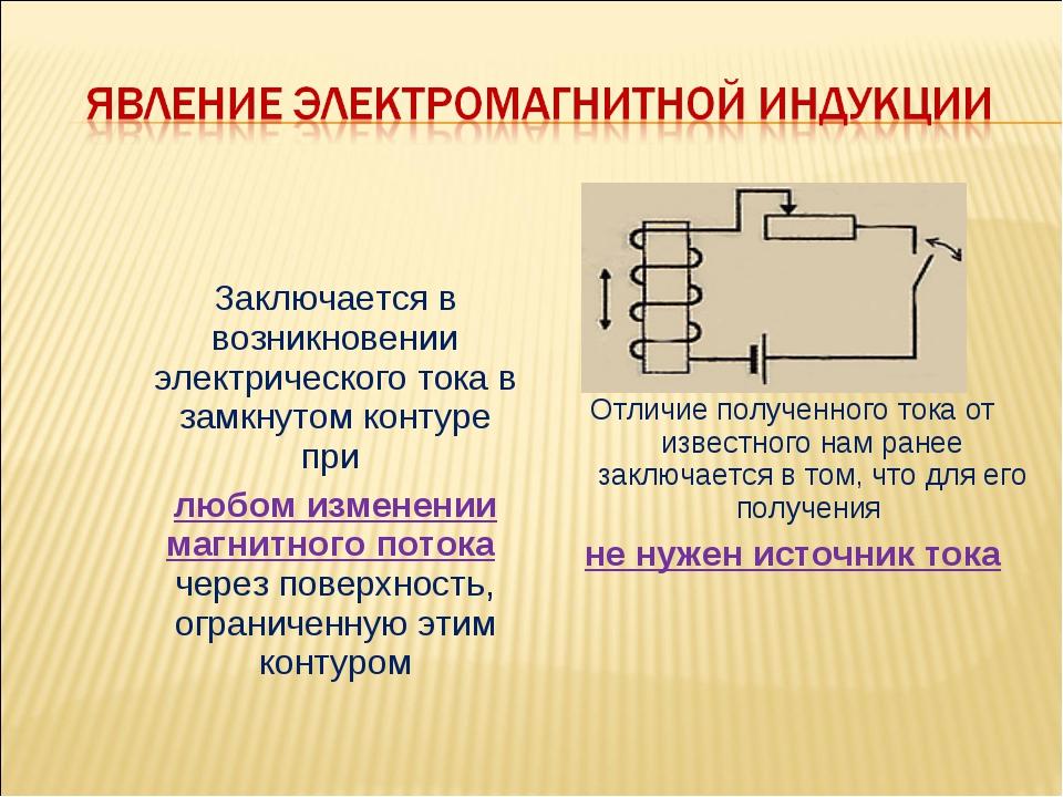 Явление электродвижущей силы. практическое применение электромагнитной индукции
