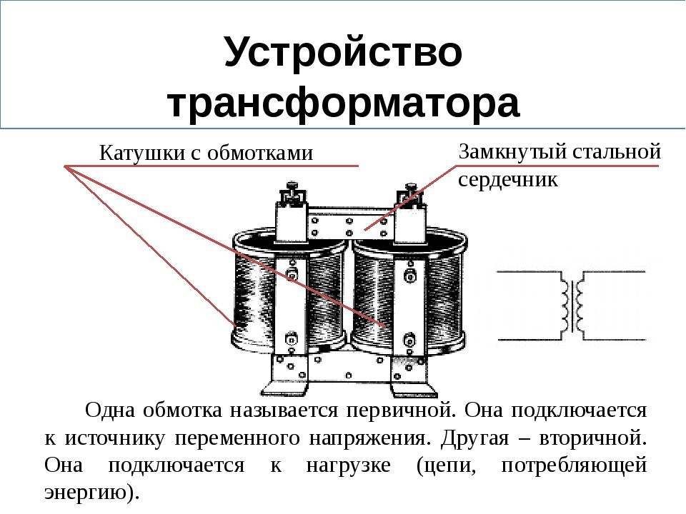 Принцип действия и виды трансформаторов