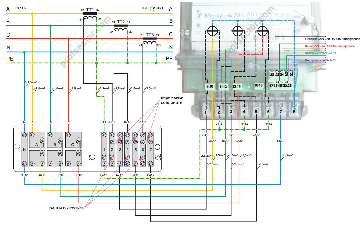 Подключение счетчика электроэнергии в низковольтную сеть большой мощности / статьи и обзоры / элек.ру