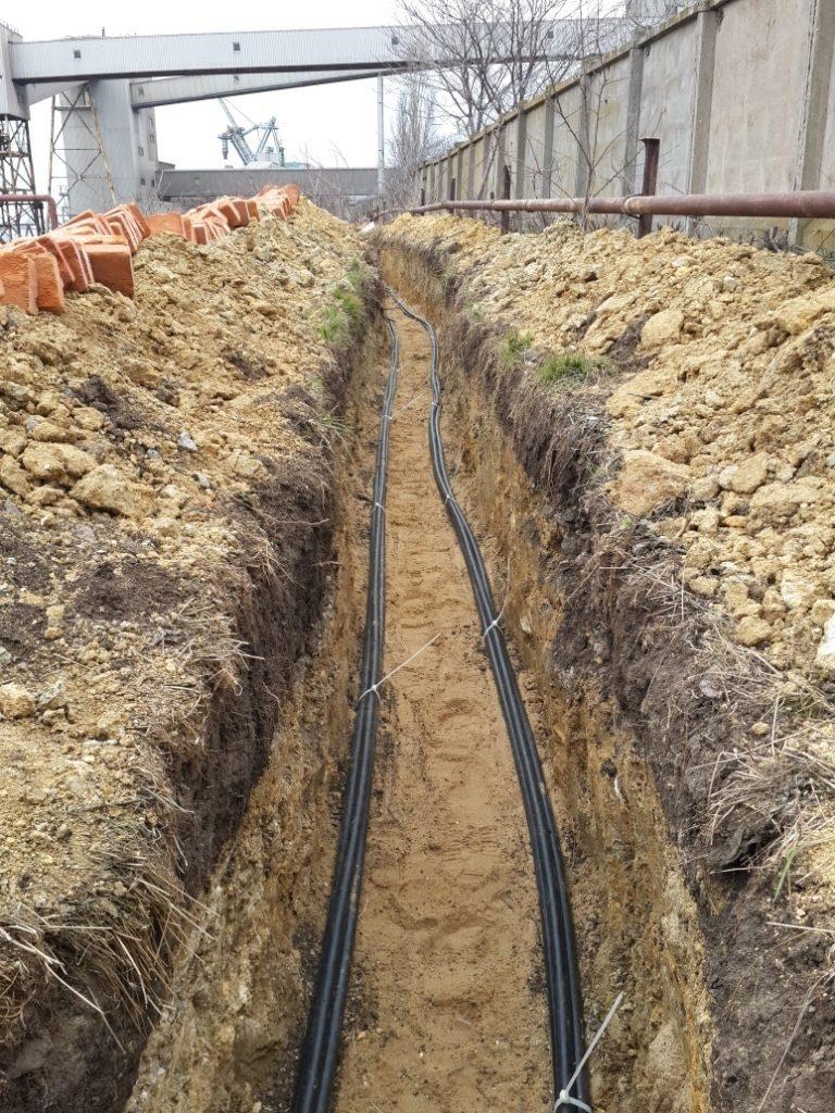 Бронированный кабель для прокладки в земле