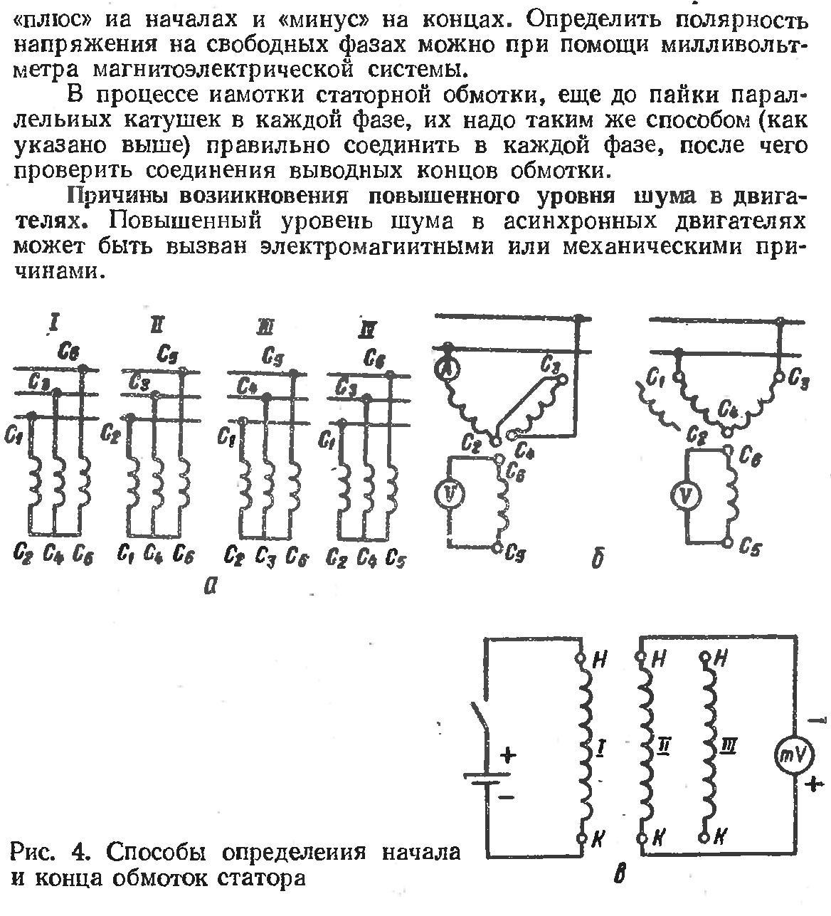 Обмотчик электрических машин - схемы трехфазных однослойных обмоток статоров