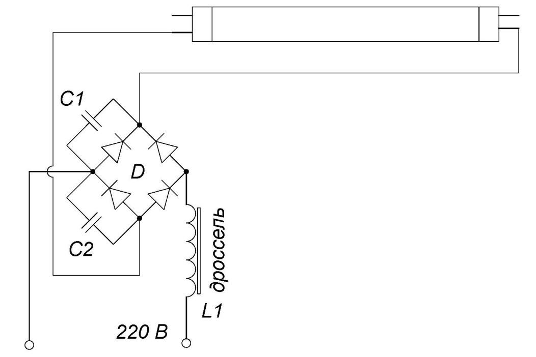 Дроссель для люминесцентных ламп: схема подключения люминесцентной лампы с дросселем