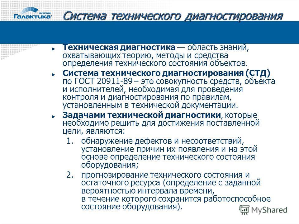 Гост 20911-89 техническая диагностика. термины и определения