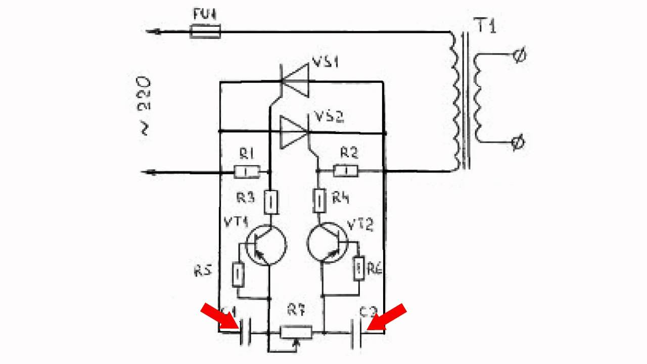 Тиристорные коммутаторы нагрузки (10 схем)