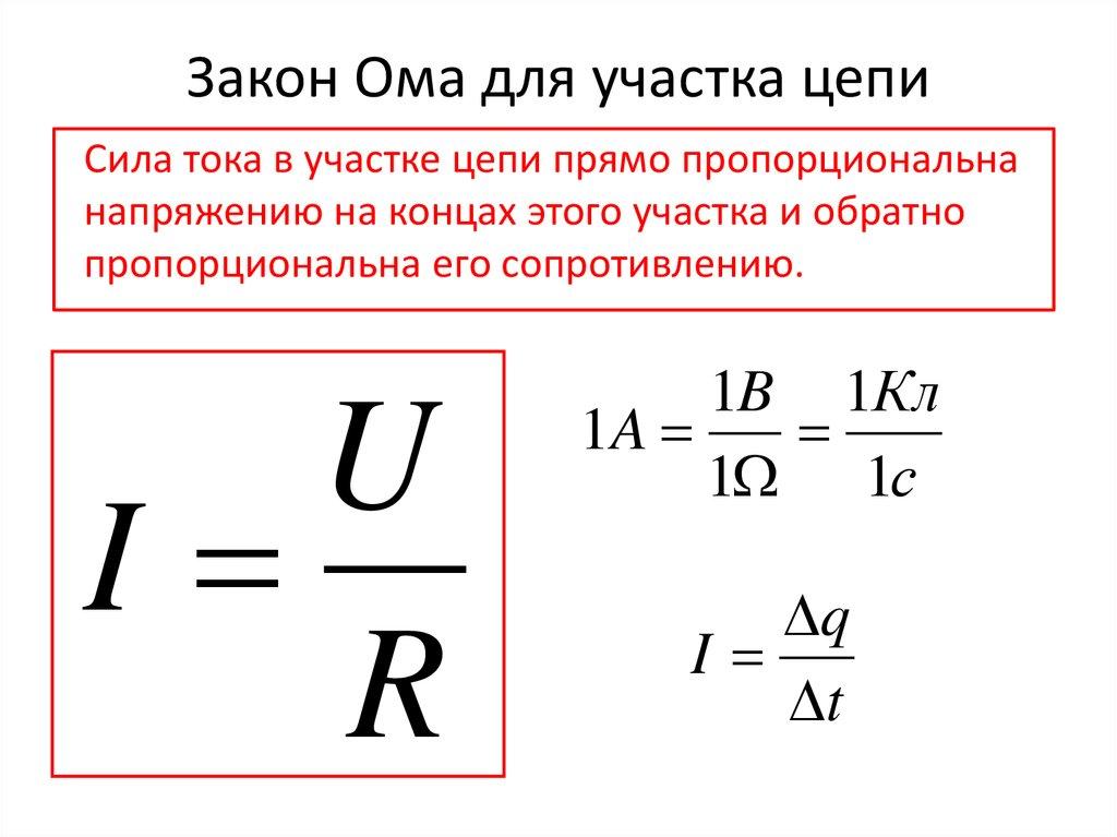 Основные электрические законы. базовые формулы и расчеты