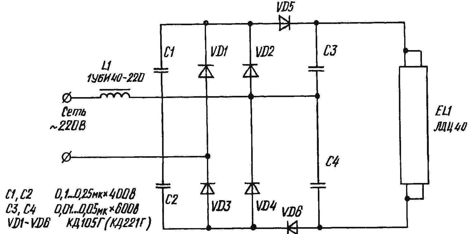 Принцип работы люминесцентной лампы и устройство прибора