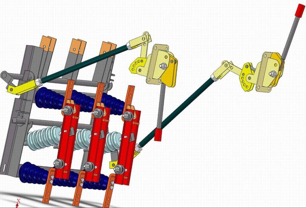 Разъединители серии рг на напряжение 35 - 500 кв