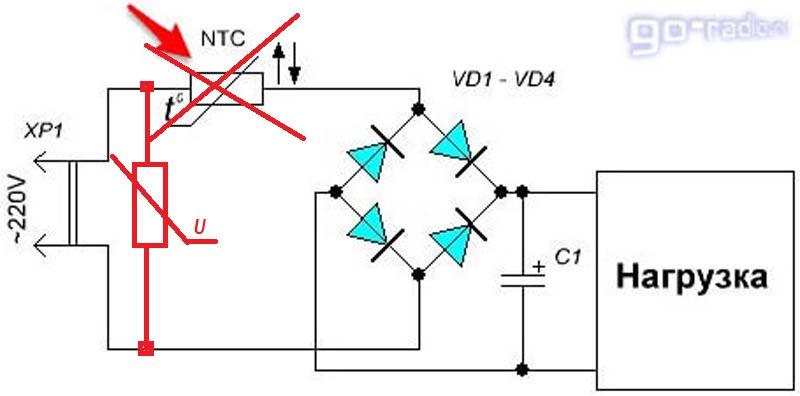 Принцип действия, характеристики и основные параметры термистора