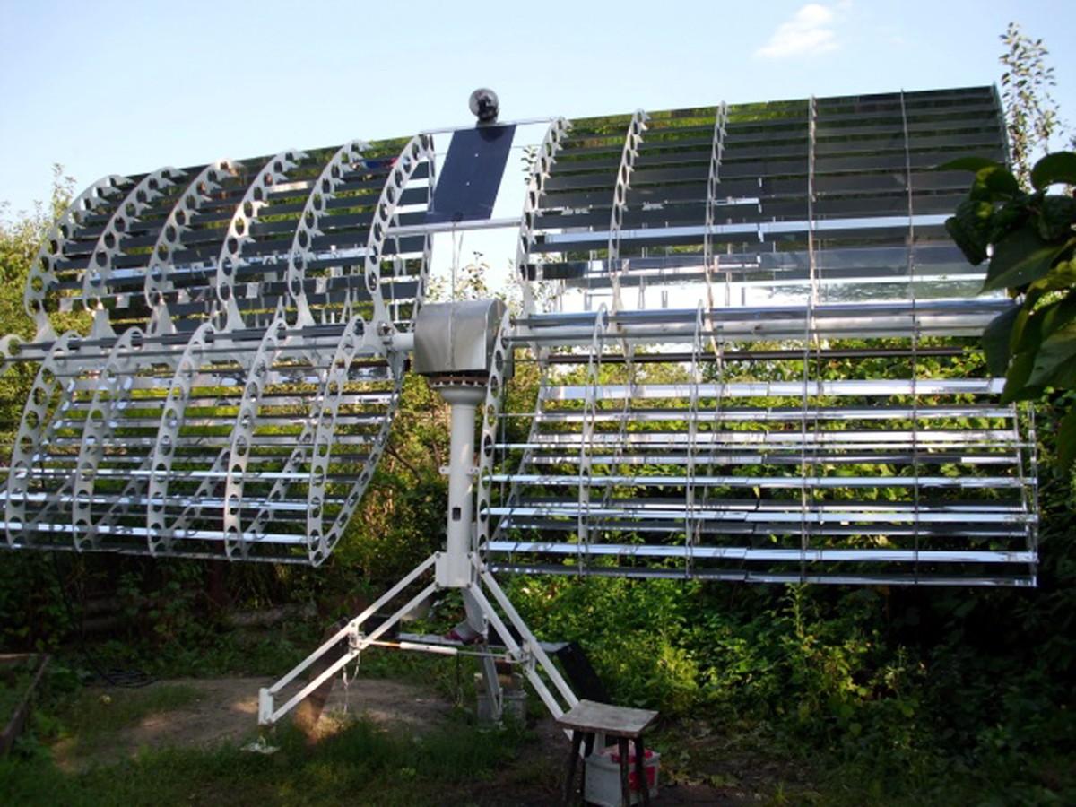 Солнечные батареи лучше по принципу параболы. самодельный солнечный концентратор из зеркальный пленки. как сделать самому солнечный концентратор