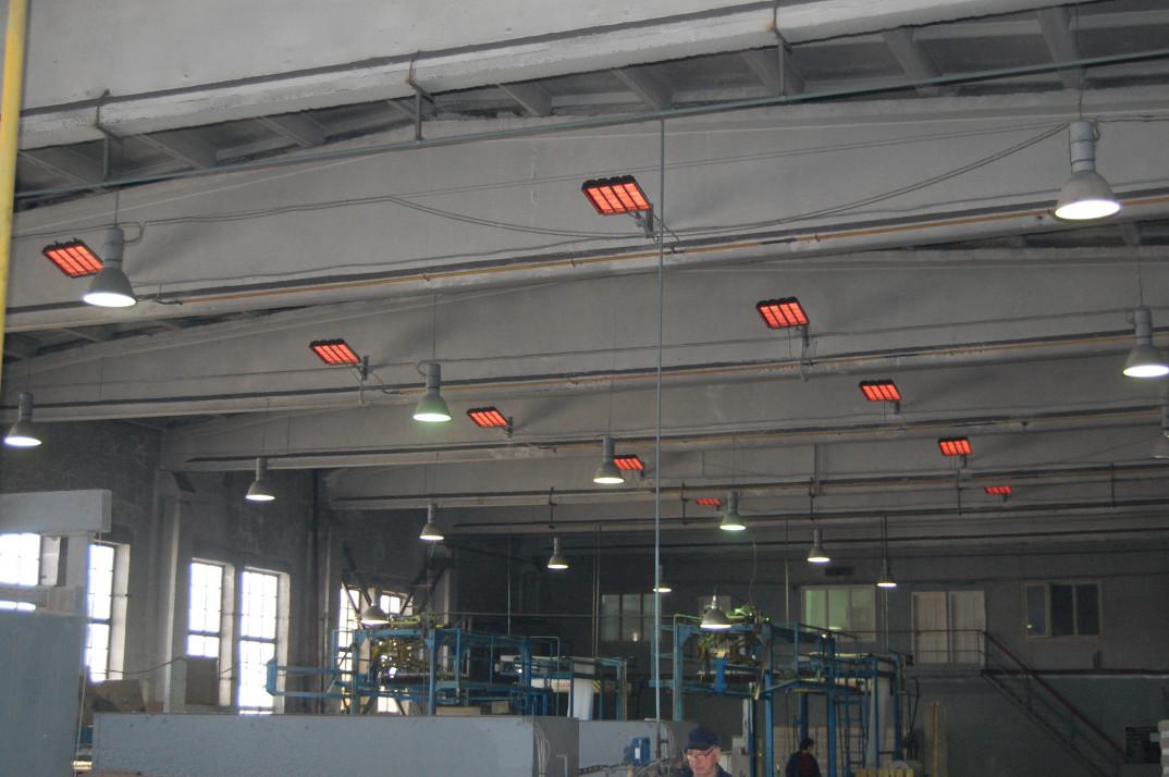 Промышленные инфракрасные обогреватели для больших помещений
