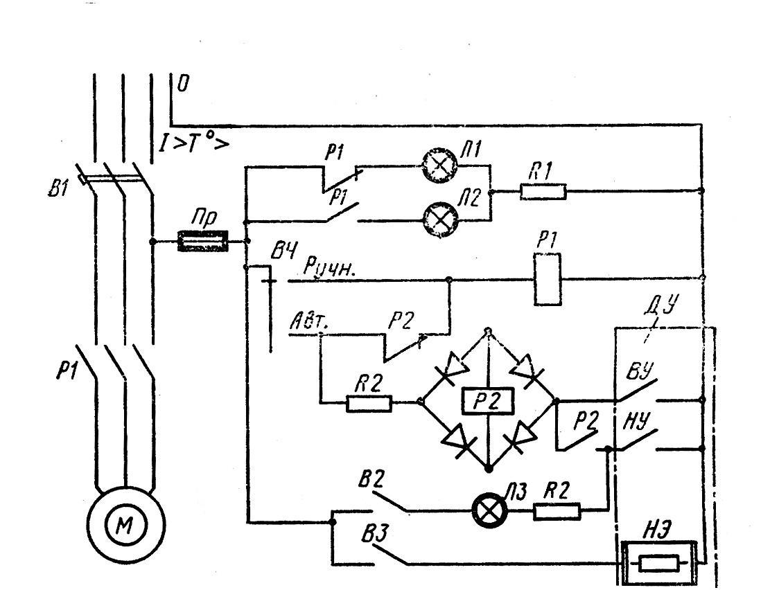 Электрическая схема оросительной насосной станции