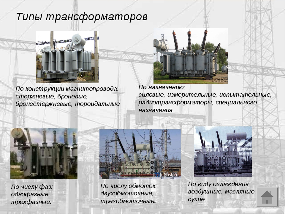 Принцип работы, устройство и виды трансформаторов